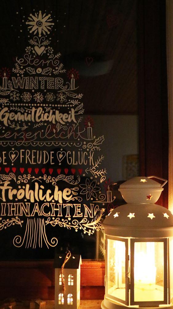 Diy Weihnachten Am Fenster Fensterbilder Mit Kreidestiften
