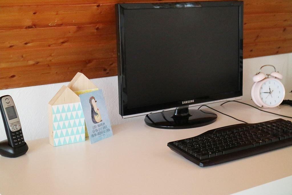Schreibtisch Arbeitsplatz Blogger