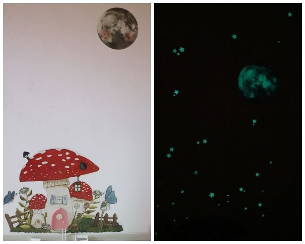 Wandtattoo Feenhaus Mond Tinyfoxes