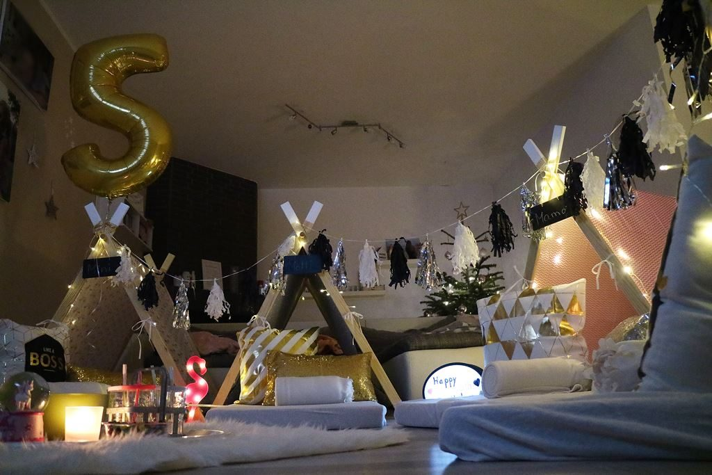 Kullakeks - fünfter Geburtstag - Yippi Tipi - Pyjamaparty