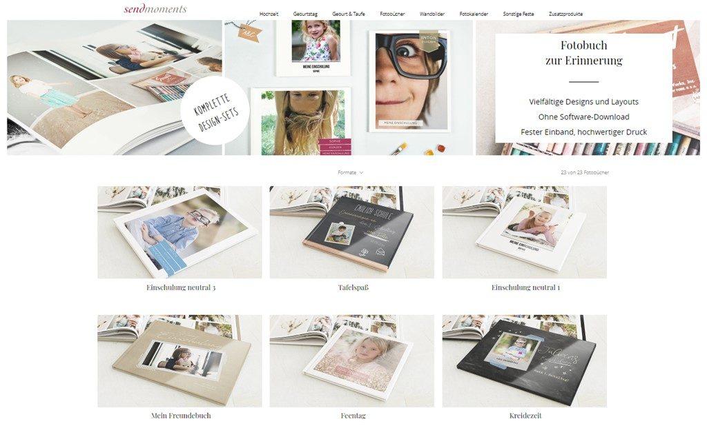 Kullakeks - sendmoments - Fotobücher - Einschulung - Auswahl