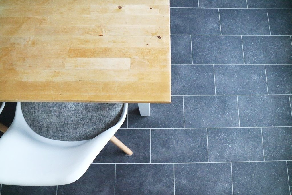 Kullakeks - Küche - Vorher Nachher - Fußboden PVC