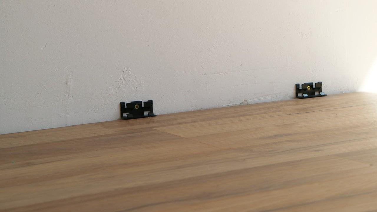 Kullakeks - Schlafzimmer - Fußboden -Fußleiste - Logoclic - Verlegen
