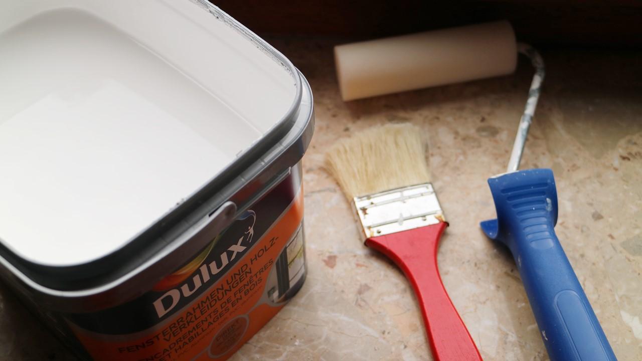 Kullakeks - Schlafzimmer - Holzvertäfelung - Dulux - Streichen