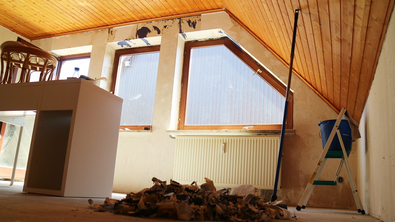 Kullakeks - Schlafzimmer - Renovierung - Tapete entfernen - Fototapete