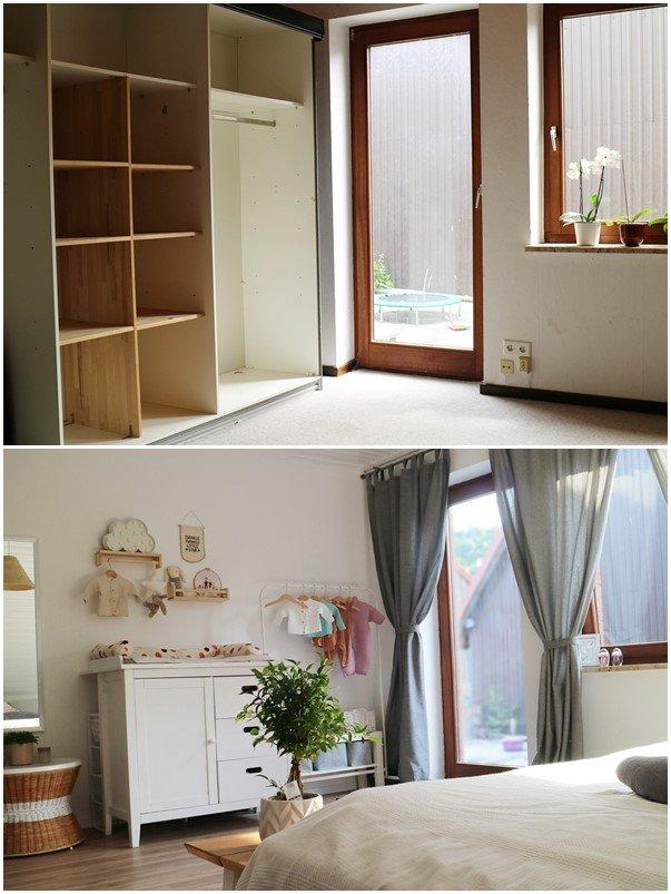 Kullakeks - Schlafzimmer - Vorher Nachher - Babyecke