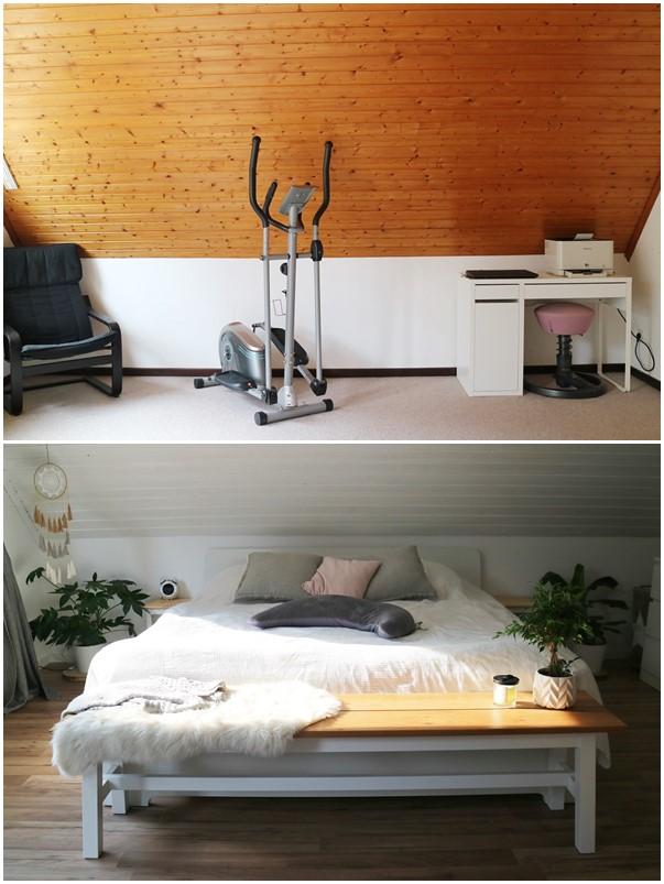 Kullakeks - Schlafzimmer - Vorher Nachher - Bett