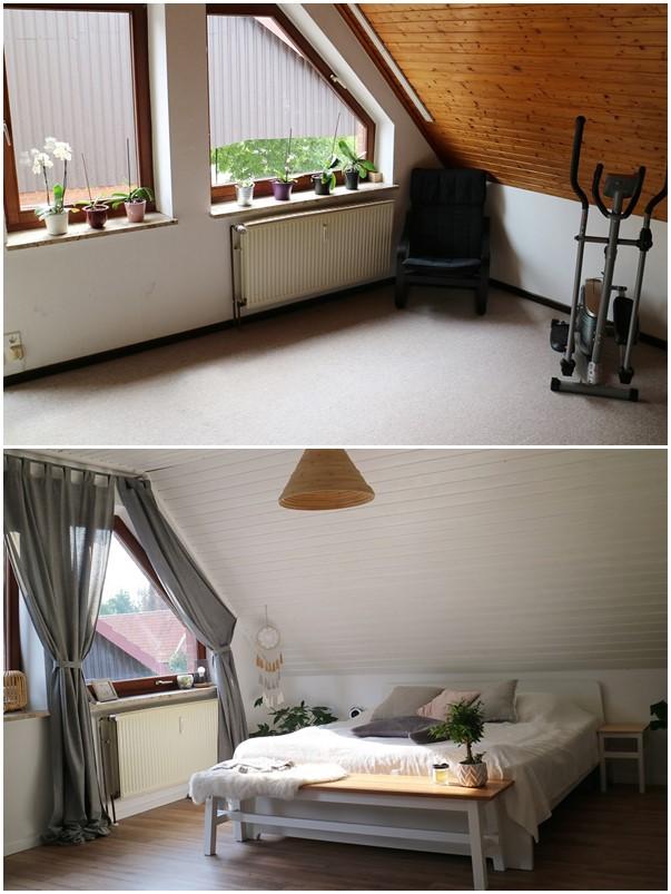 Kullakeks - Schlafzimmer - Vorher Nachher - Fensterfront