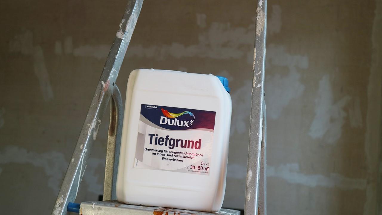 Kullakeks - Schlafzimmer - Wandfarbe - Dulux - Tiefgrund